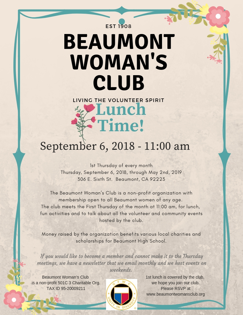 beaumont - woman - club